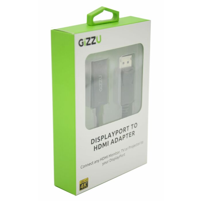 GIZZU Display Port to HDMI Active Adapter - Black