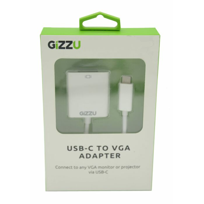 GIZZU USB-C to VGA Adapter - White