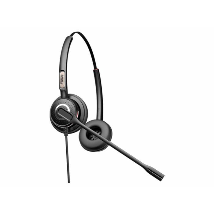 Fanvil RJ9 Binaural On-Ear headset with Mic | HT202
