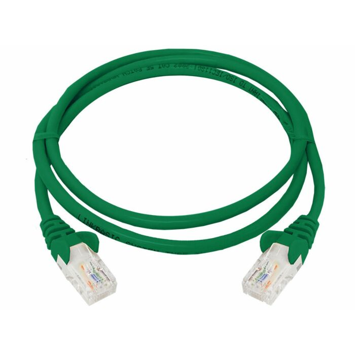 Linkbasic 1 Meter UTP Cat5e Patch Cable Green