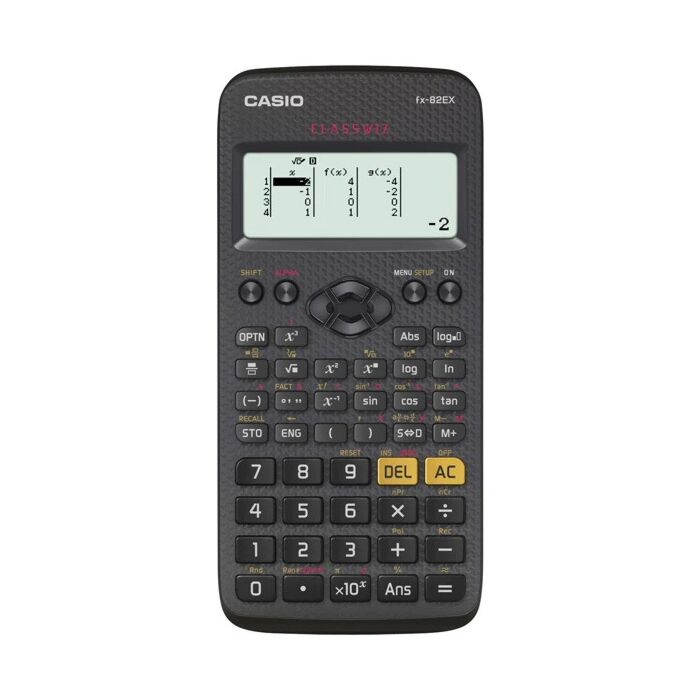 Casio FX-82EX-W-DH Scientific Calculator Black