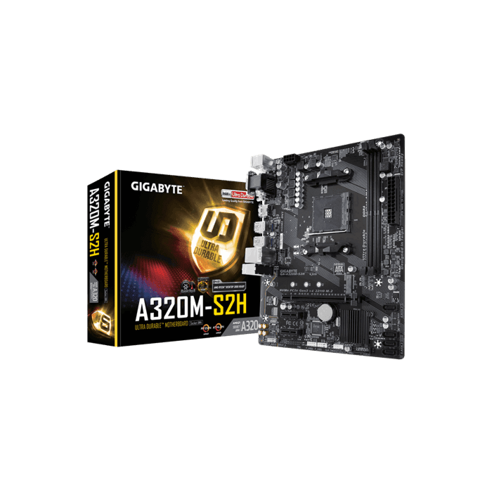 GIGABYTE AMD A320 Chipset for 7th Gen A-Series Ryzen Dual DDR4 M2