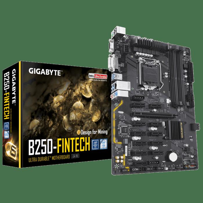 GIGABYTE Intel B250 Chipset for 6/7 Gen LGA 1151 Quad DDR4 12x PCI-E