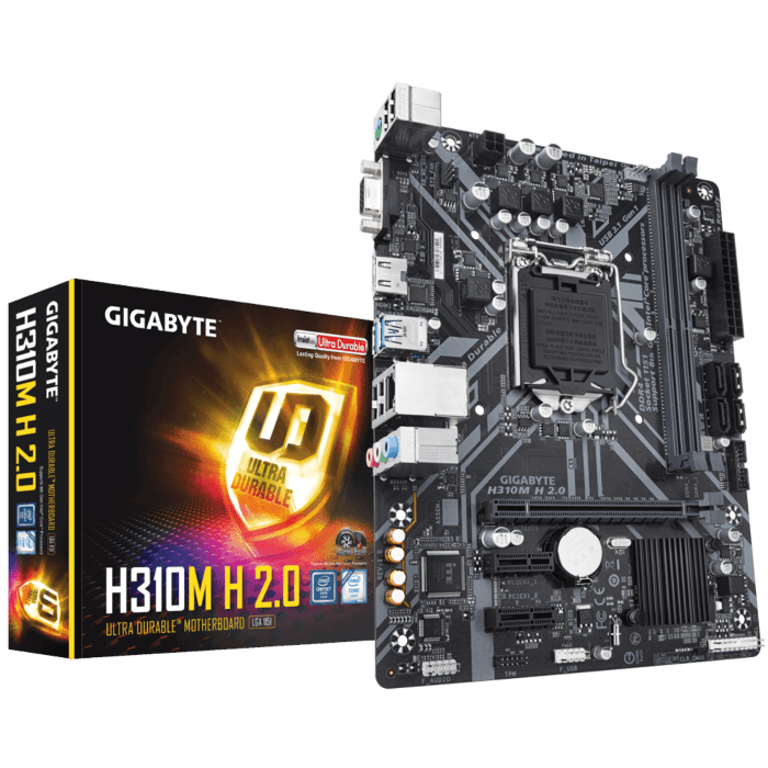 GIGABYTE Intel H310 Chipset for 8/9 Gen LGA 1151 Dual DDR4 1xM.2