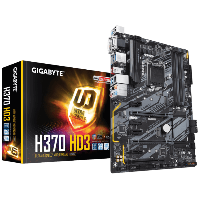 GIGABYTE Intel H370 Chipset for 8/9 Gen LGA 1151 Quad DDR4 2xM2