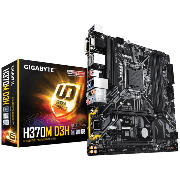 GIGABYTE Intel H370 Chipset for 8/9 Gen LGA 1151 Quad DDR4 Optane ready 2xM2