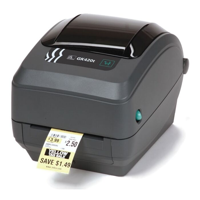Zebra GK-420T Thermal Transfer Label Printer with Ethernet & USB Interfaces