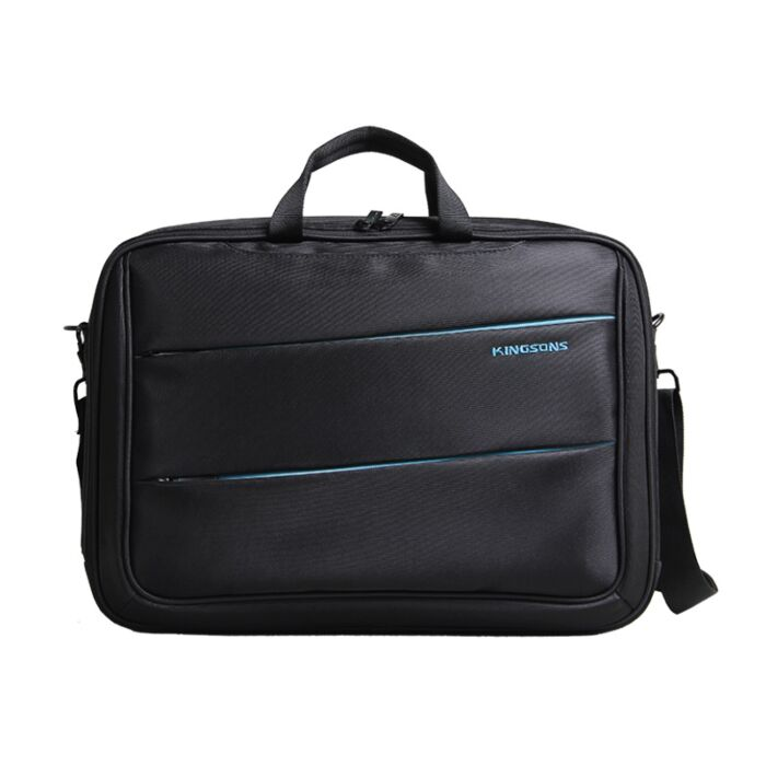 Kingsons 15.6 inch Black Green Shoulder Laptop Bag