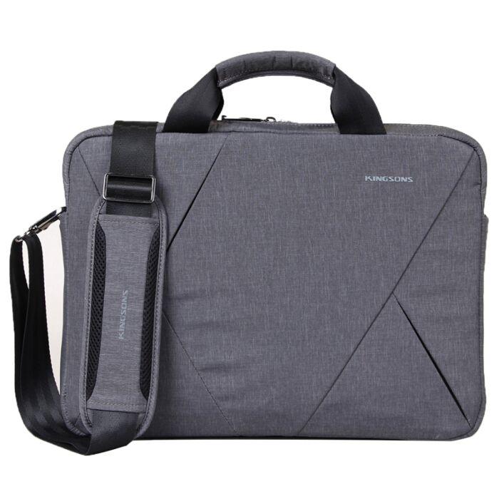 Kingsons 14.1 inch Sliced series grey messenger bag Grey