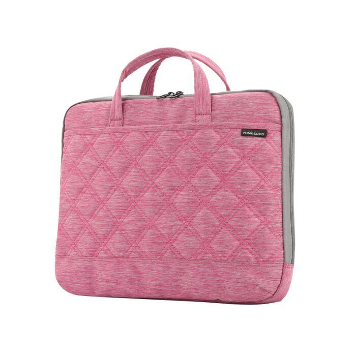 Kingsons 13.3 inch Ladies Bag Trace Series Pink