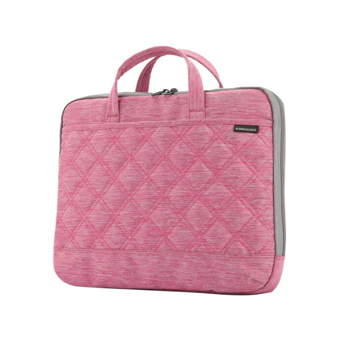 Kingsons 15.6 inch Ladies Bag Trace Series Pink