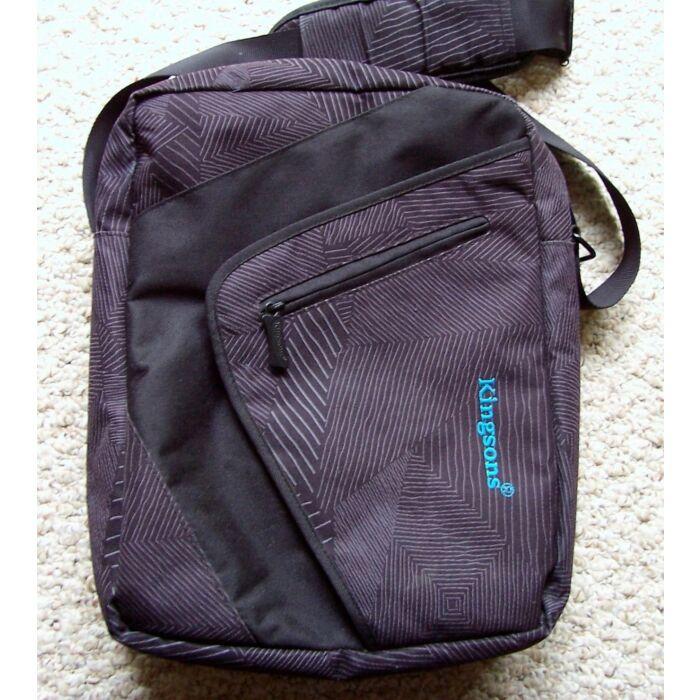 Kingsons 12.1 inch Grey Shoulder Laptop Bag Zigzag Series