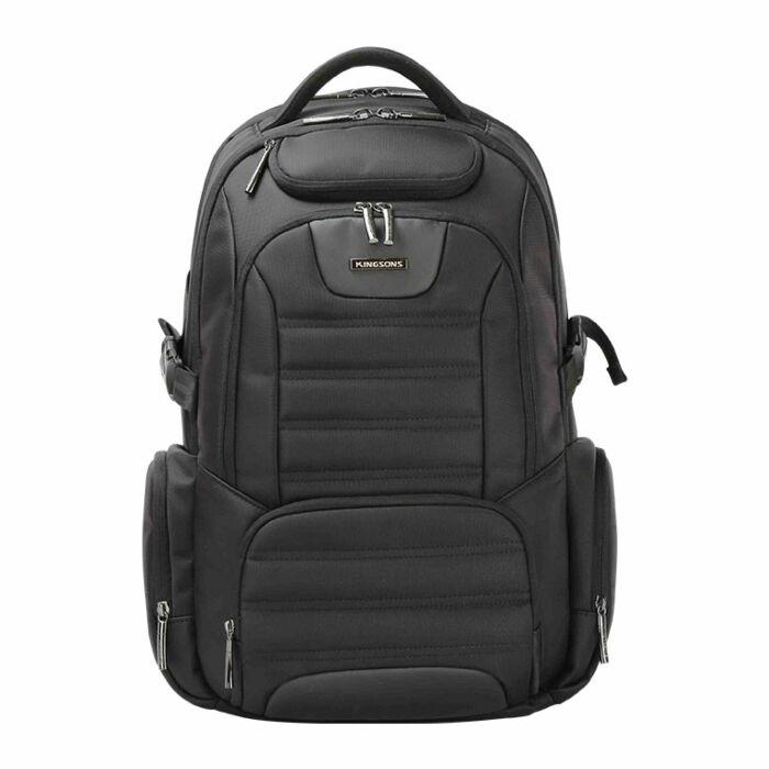 Kingsons 15.6 inch Stealth series Smart Backpack - Black