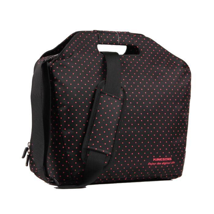 Kingsons 15.4 inch Black Match Red Laptop Bag