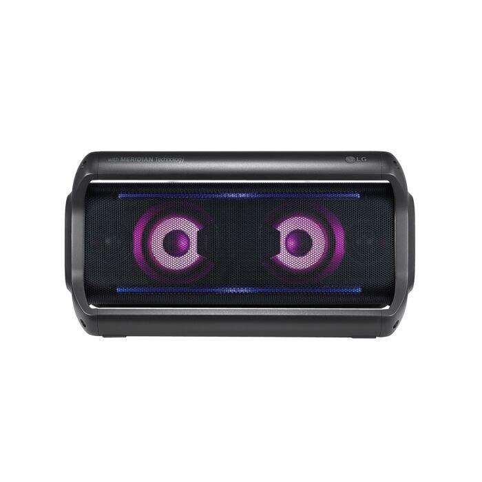 LG PK7 DZAFLLK BLUETOOTH SPEAKER with Meridian Technology Multi Colour Lighting IPX5 Waterproof