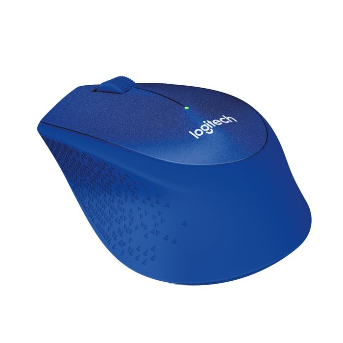 Logitech - M330 Silent Cordless Notebook Optical Mouse - Blue