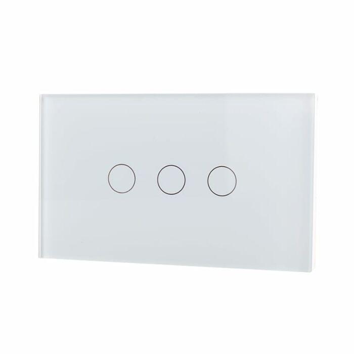 Lifesmart Smart Light Switch 3 lines - Socket 118/120 - Whit