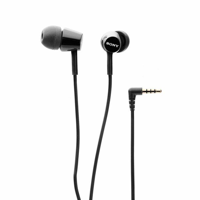 Sony EX155AP In-Ear Headphones with Mic Black