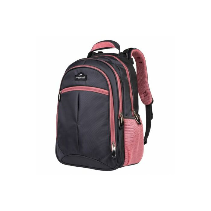 Playground Orthopaedic Backpack 27L Dark Grey and Pink