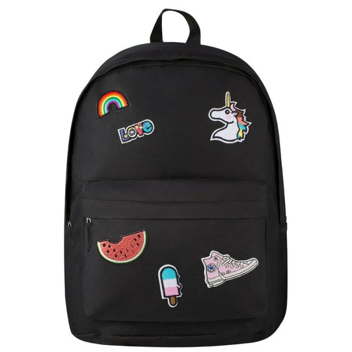 Playground Badges Girls Backpack Black