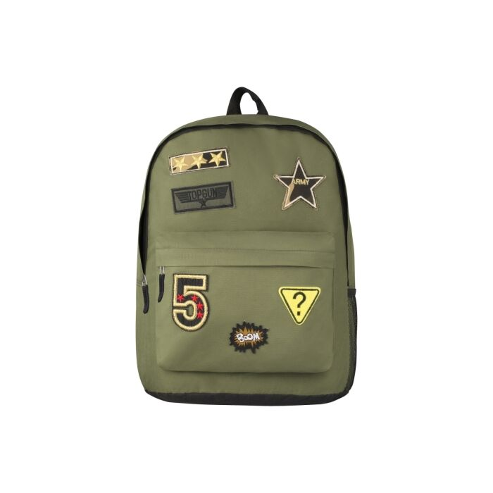 Playground Badges Boys Backpack Green