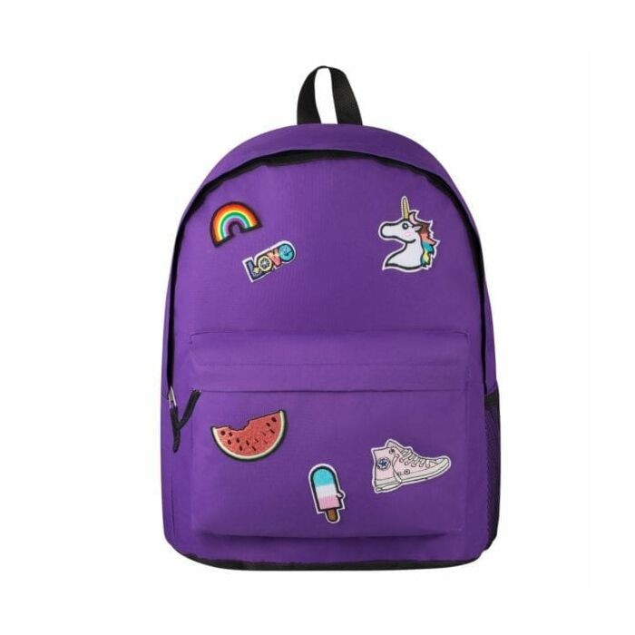 Playground Badges Girls Backpack Purple