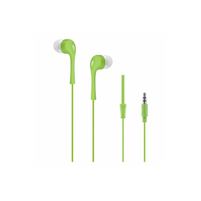 Pro Bass Dollarz Series Blister Auxiliary earphone No Microphone Green