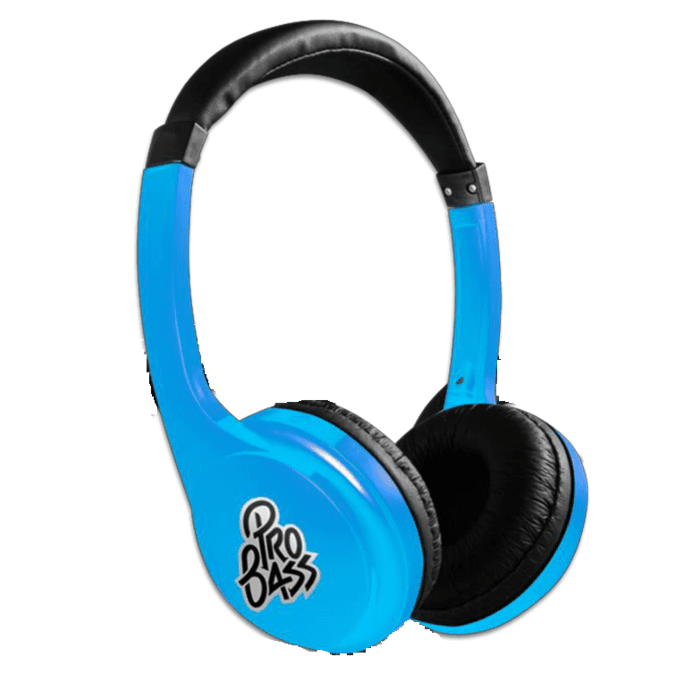 Pro Bass Elevate Series Auxiliary Headphone Blue