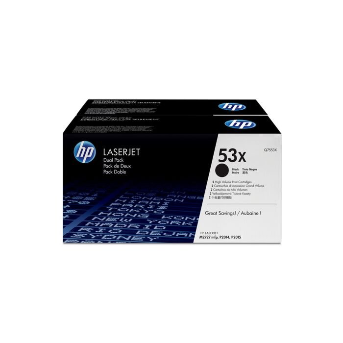 HP 53X Laserjet P2015 Black Print Cartridge - Dual Pack