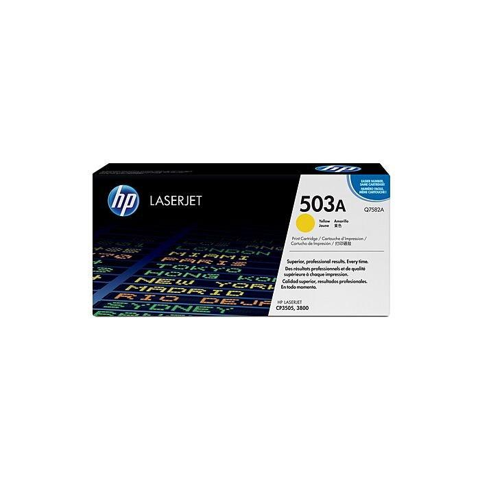 HP 503A Yellow Original Laserjet Toner Cartridge - CLJ 3800/Cp3505