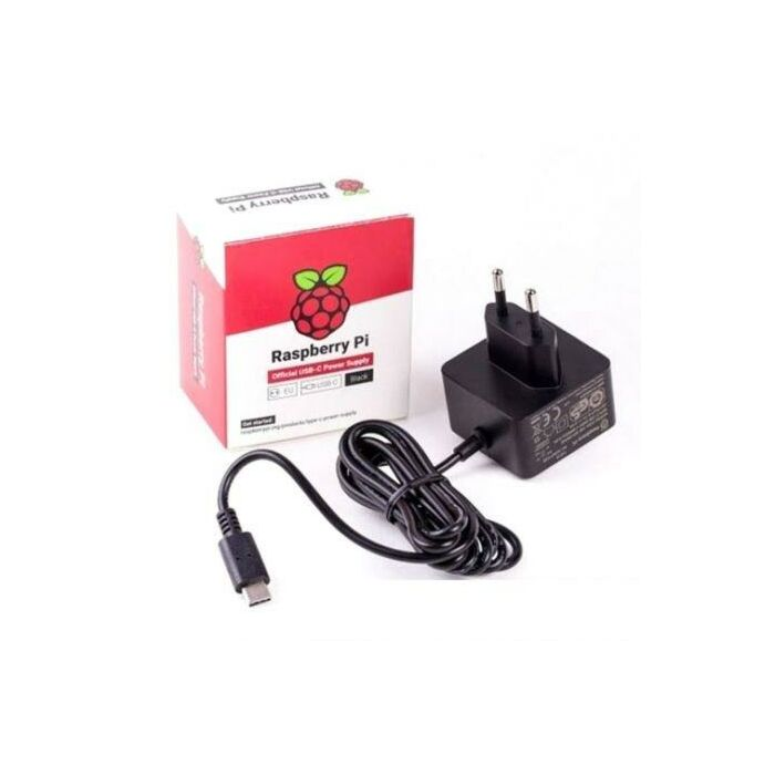 Raspberry Pi P4 B Power Supply USB Type-C - 2 pin Euro plug
