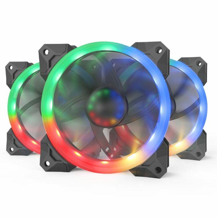 Redragon 3xRGB LED Full Colour Fan