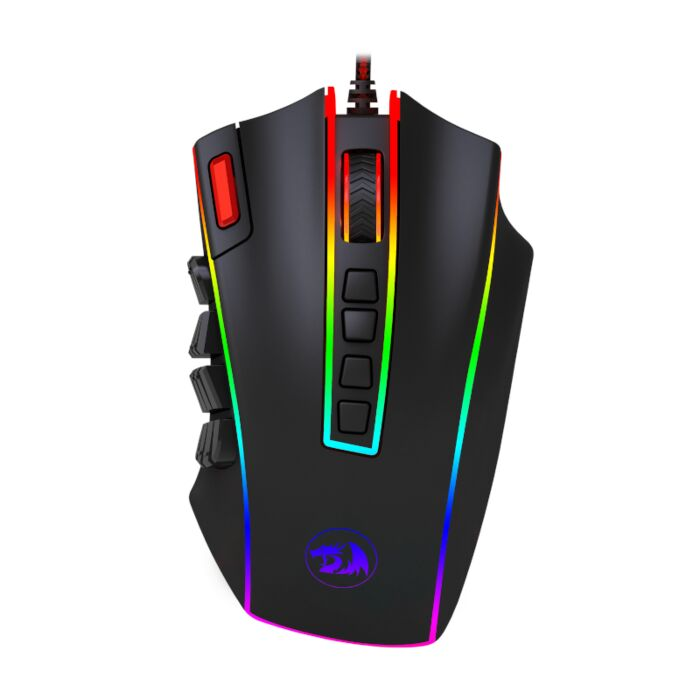 Redragon LEGEND 24000PI 22 Button|180cm Cable|Ergo-Design|8 Weights|RGB Backlit Gaming Mouse - Black