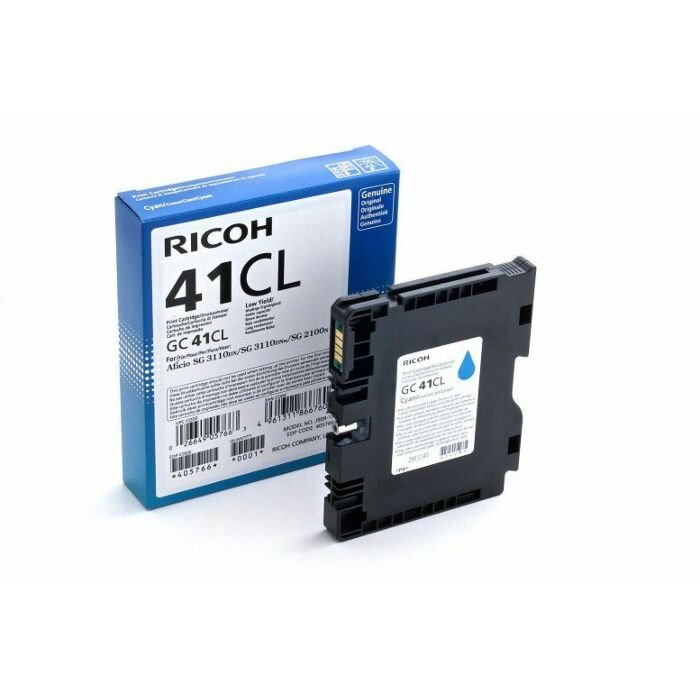 RICOH GC41CL CYAN TONER 600 PAGES