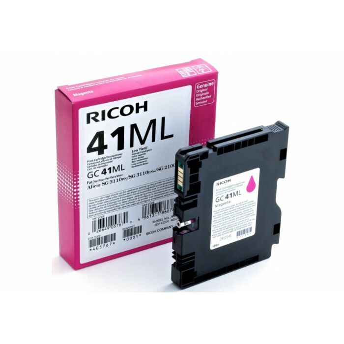 RICOH GC41ML MAGENTA TONER 600 PAGES @ 5% IDC. (SG2100N/RS Only)