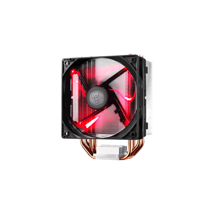 Cooler Master Hyper 212 Air Tower 120mm RED LED Fan Upgradable to Dual Fan 4 Heat Pipes