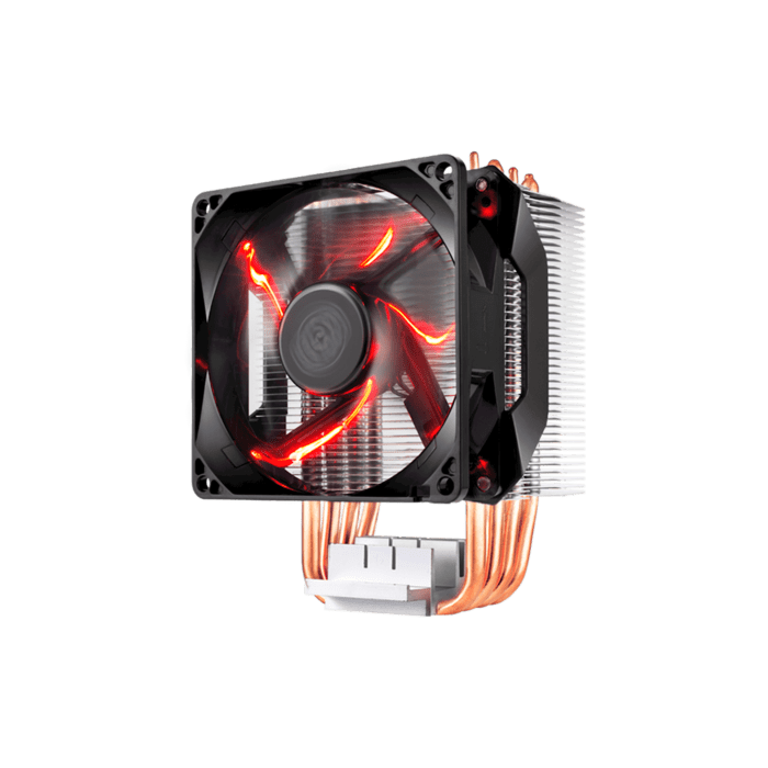 Cooler Master H410 Compact Air Tower 92mm Red LED Fan 4 Heat Pipes