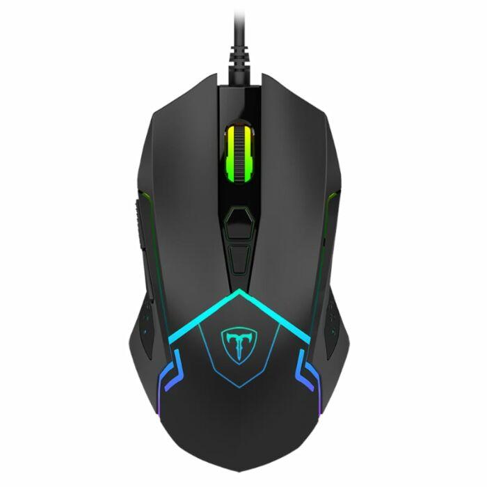 T-Dagger Senior 4800DPI 7 Button|180cm Cable|Ambi-Design|RGB Backlit Gaming Mouse - Black