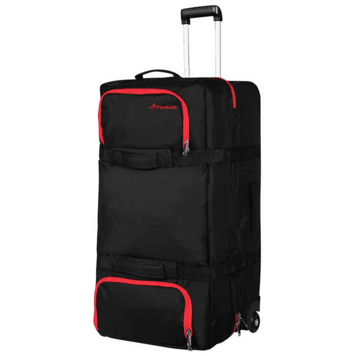 Travelwize Andy Sandwich Duffle 120L Black and Red