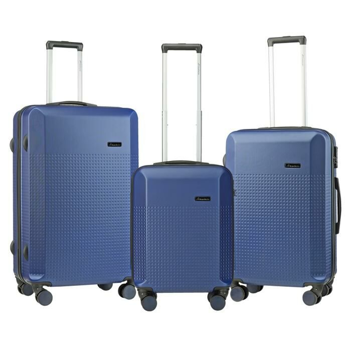 Travelwize Cyclone 3 Piece ABS Luggage Set Navy