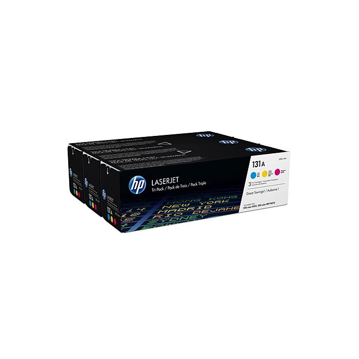 HP 131A Colour Laserjet 3 Pack (Magenta Cyan And Yellow)