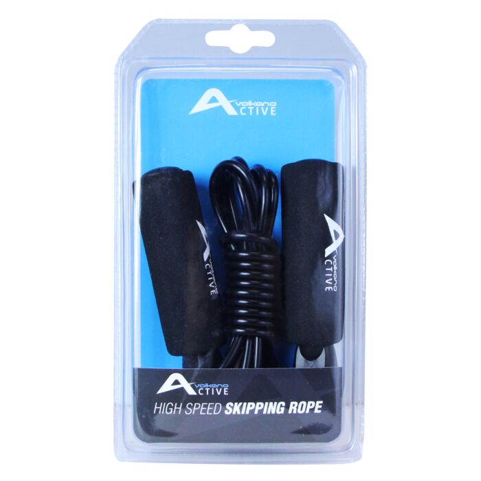 Volkano Active Swish Series Skipping Rope - Black