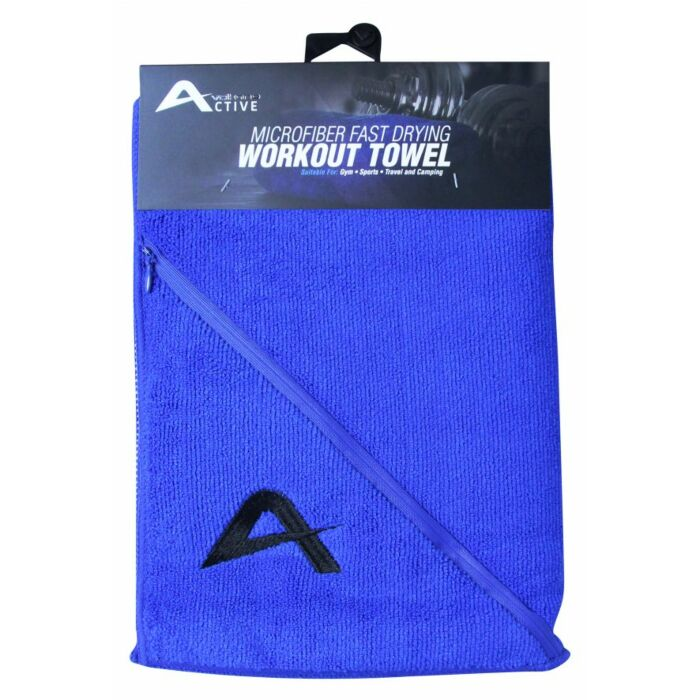 Volkano Active Fresh Series Zip Towel Blue