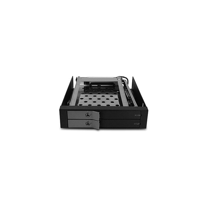 Vantec 225S6 EZ Swap EVO - Black Dual - 2.5 inch Mobile HDD Rack
