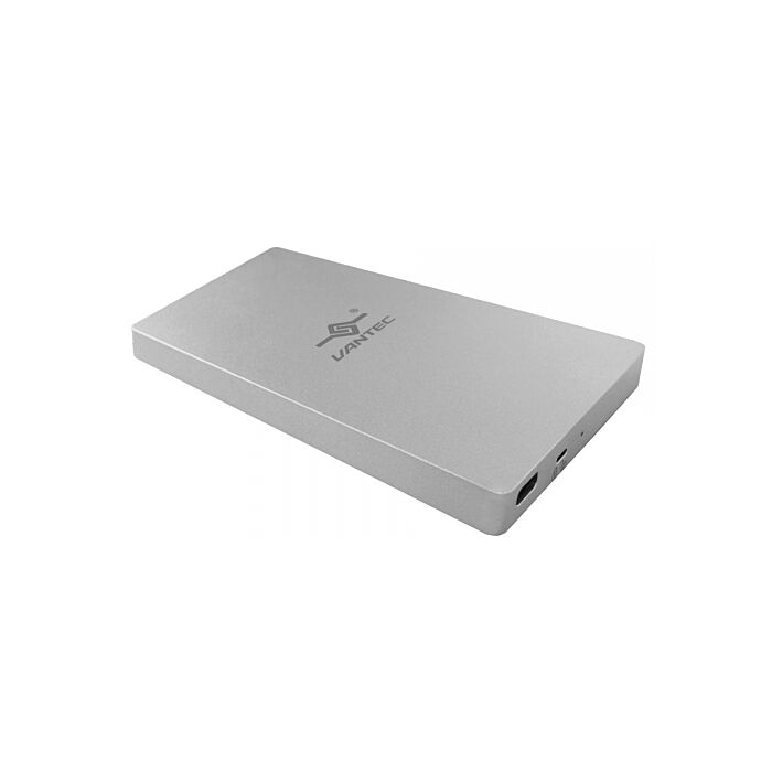 Vantec NexStar SX 2.5 Inch SATA to USB 3.1 Gen 2 Type-C Solid State Enclosure - Silver