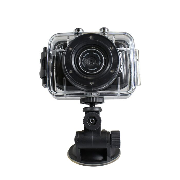 Volkano Excite Cam - HD Action Cam 720P 1.3MP Black