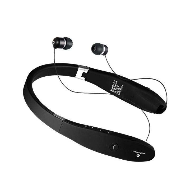 Volkano Cravat series Bluetooth earphone with neckband - Black