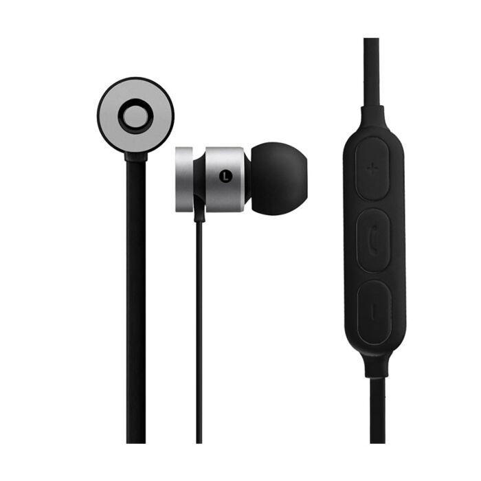 Volkano Mercury series Bluetooth magnetic earphones - Silver and Black