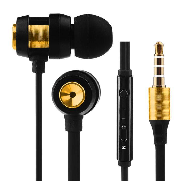 Volkano Alloy series metal earphone - Gold