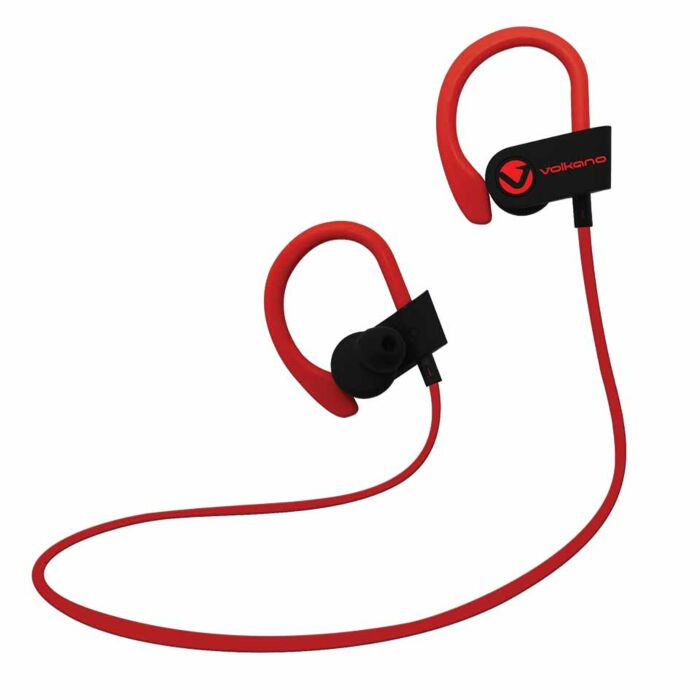 Volkano Race series Bluetooth Sport earhook earphones - Black and Red